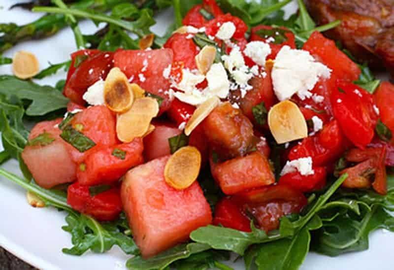 Салата от диня и домати