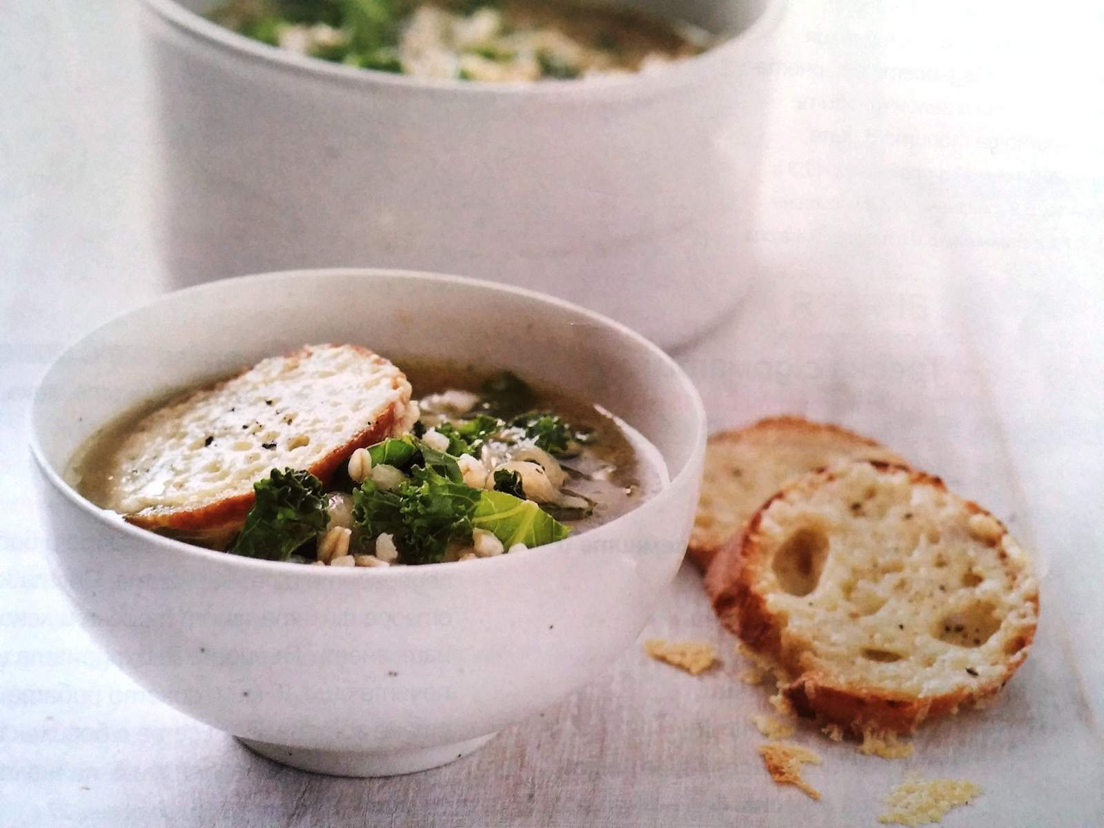 Супа с ечемик и карамелизиран лук
