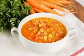 Зеленчукова супа с киноа