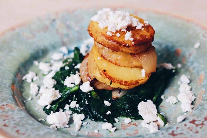 картофи на тиган
