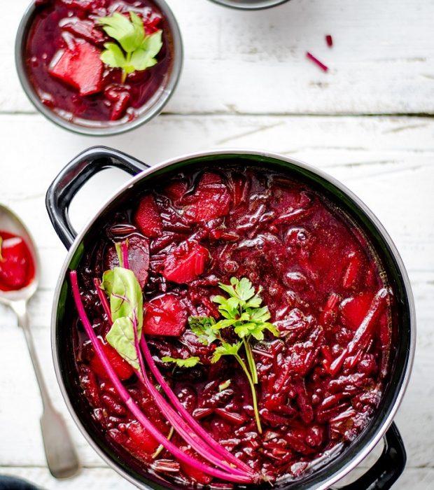 Супа от червено цвекло